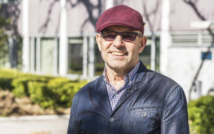 UBC professor, Dr. Richard Cavell, outside of Buchanan