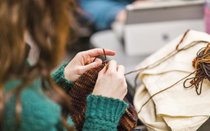 Knitting break