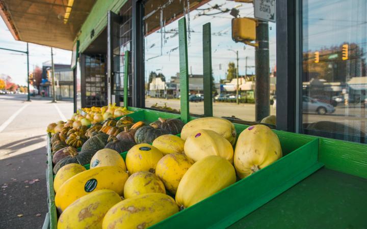 Storefront of Tama Supermarket