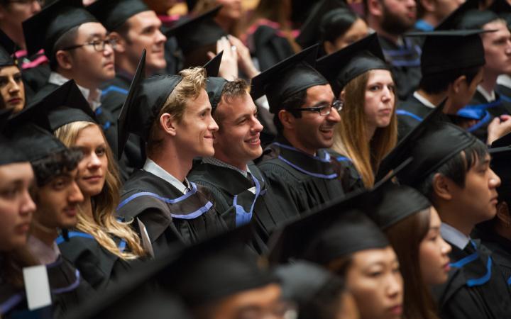 Students at a UBC Graduation Ceremony