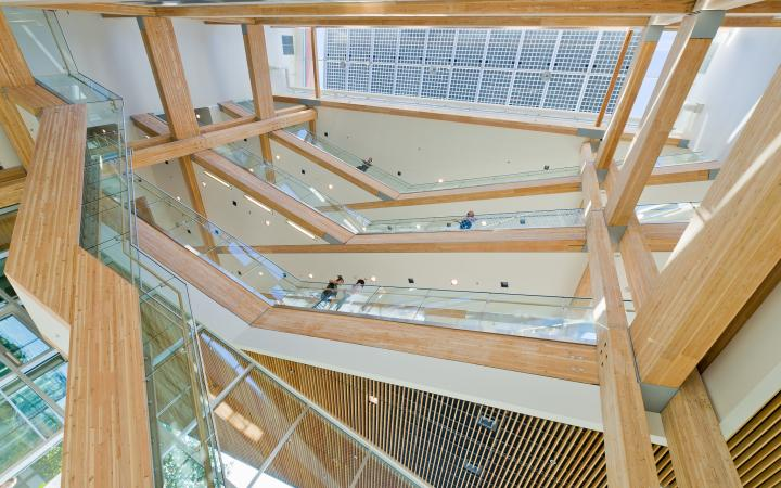 The Centre for Interactive Research on Sustainability stairs