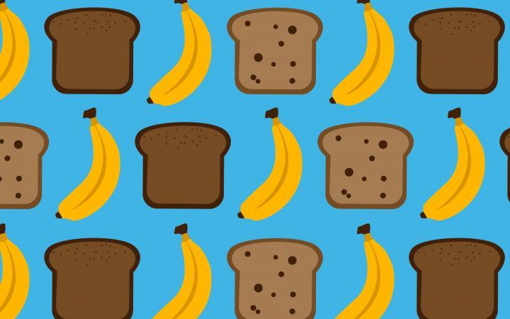 Banana bread illustrations
