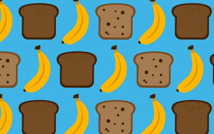 Banana bread illustrations