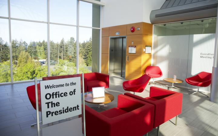 Seating area by the President's Office