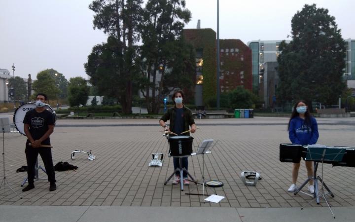 Drumline rehearsal