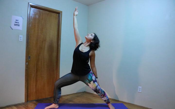 new habits - yoga - exulted warrior