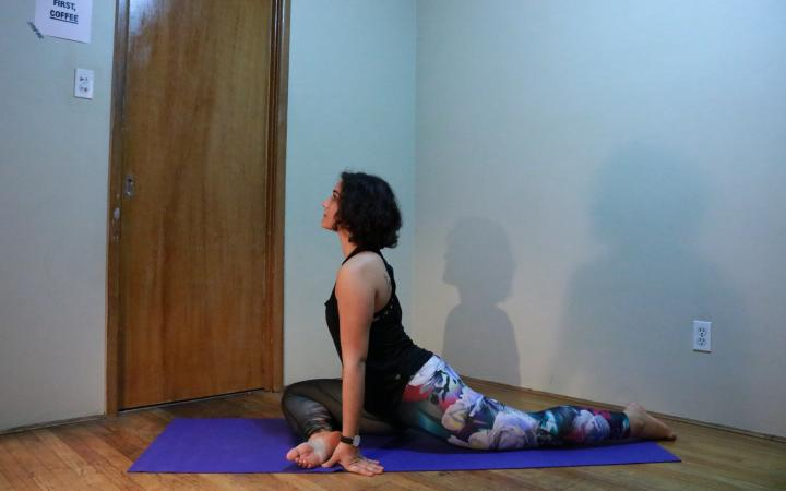 new habits - yoga - pigeon pose