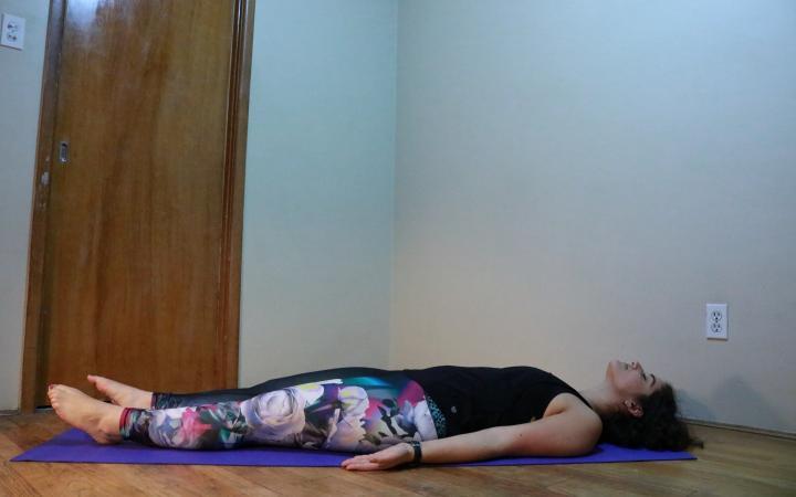 new habits - yoga - savasana