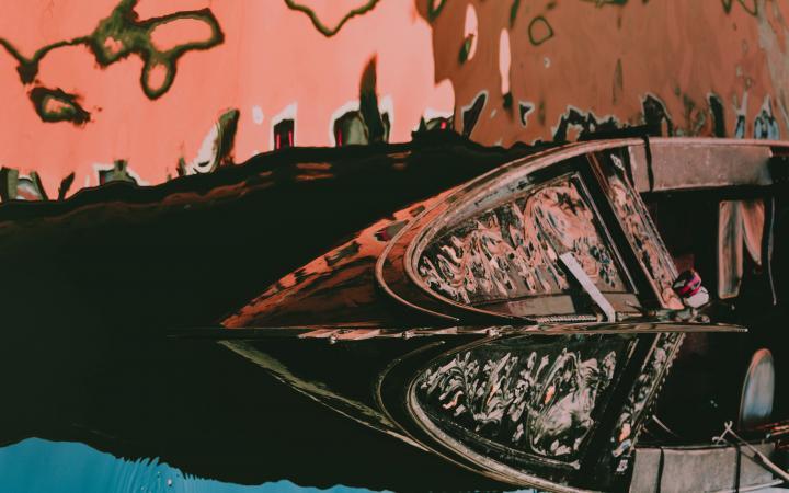 abstract image of venetian gondola