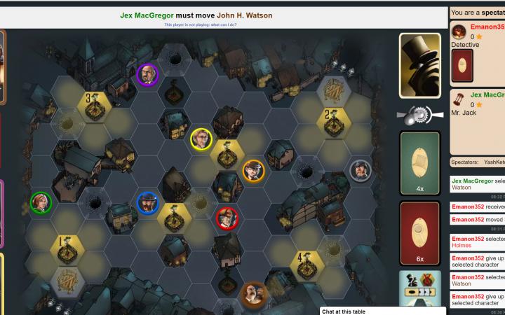 Virtual board game