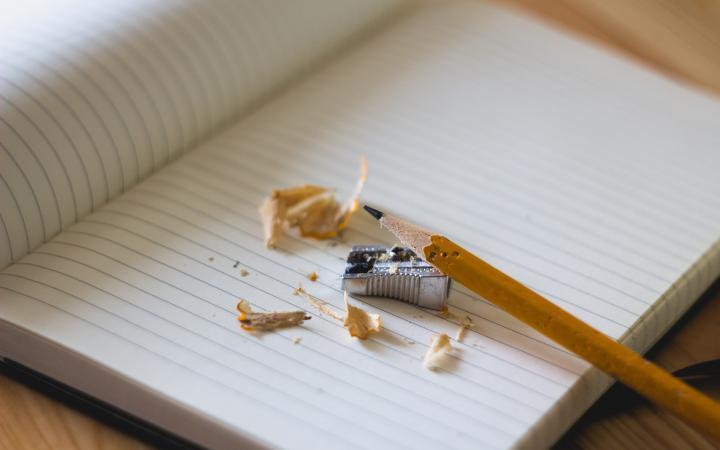 notebook pencil