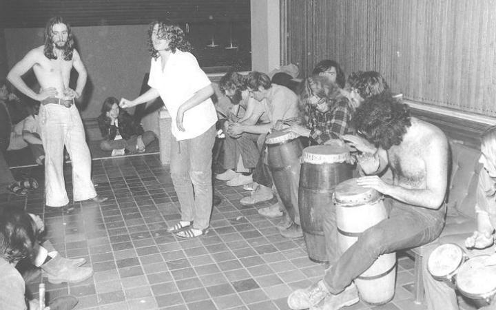 Student sit-in at Faculty Club, 1968