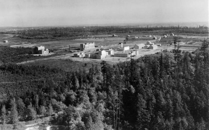 Aerial view of new UBC campus