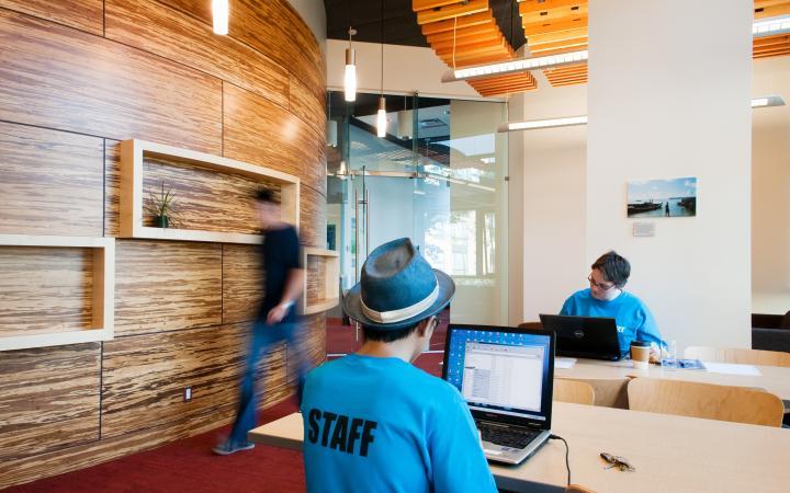 Global lounge resource room space