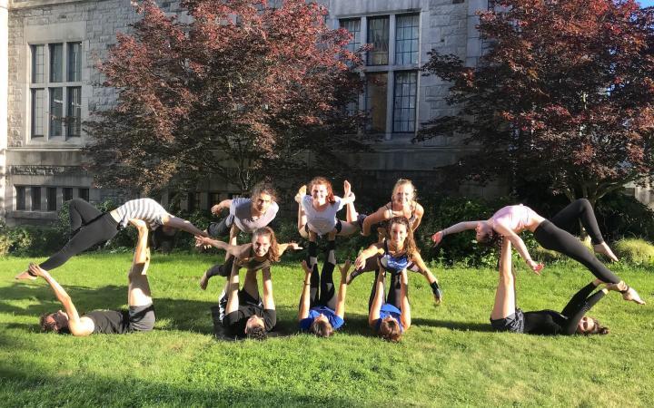 UBC Yoga Club posing