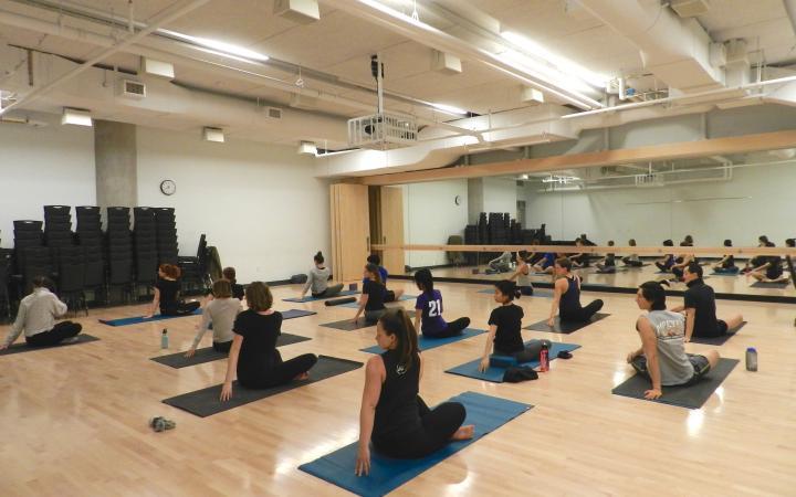 UBC Yoga Club in a studio