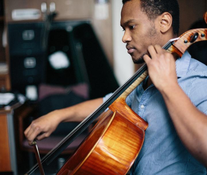 Man playing cello