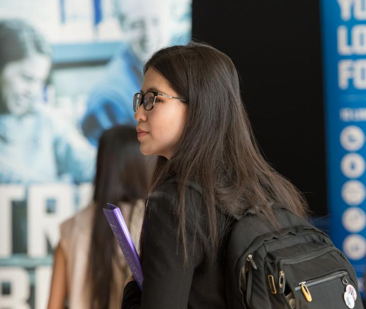 UBC Student browsing the 2016 Career Fair